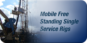 mobile free standing well service rigs